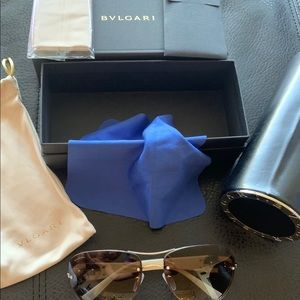 Bulgari sunglasses like new brown Bvlgari